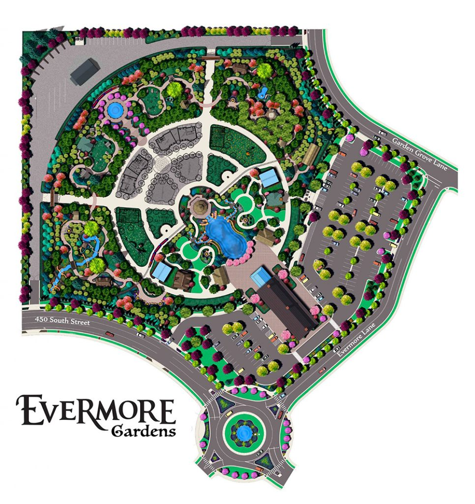 Evermore Gardens, which will sit on 10-acres in Pleasant Grove, will be an immersive, theatrical experience. (Image courtesy Evermore Gardens)