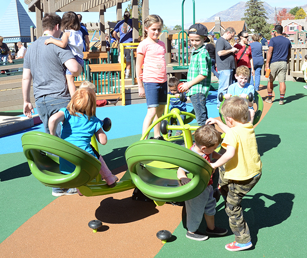 The All-Together Playground in Orem opened in August. (Photo by Rebecca Lane/UV360)