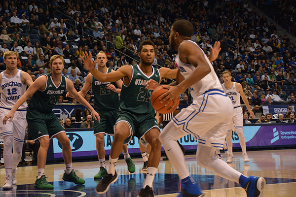 UVU upset BYU in the UCCU Crosstown Clash 114–101 Saturday night. (Photo by Rebecca Lane/UV360)