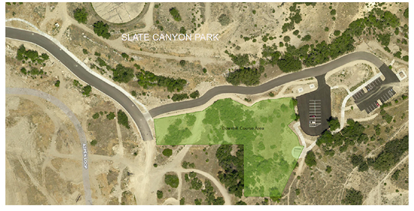 A new beginner to intermediate course is being built at Slate Canyon Park in Provo. (Photo by Provomayor.com)