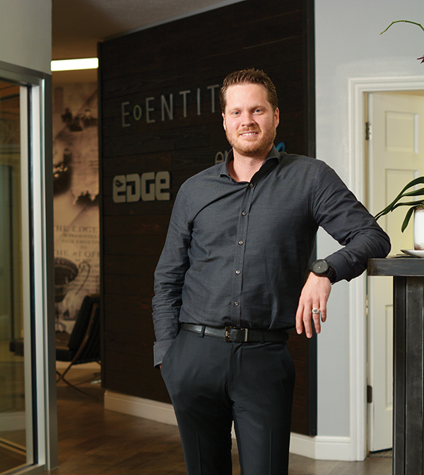 """Businesses come here and stay here because there's a large skilled talent pool,"" says Andrew Richardson, founder and CEO of EDGE — The Service Company. ""A key to growing a business is having that personnel."" (Photo by Dave Blackhurst/Utah Valley Magazine)"