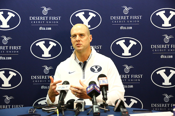 Ed Lamb, former head football coach at Southern Utah University, joined BYU as assistant head coach at the end of 2015. (Photo by BYU Photo)