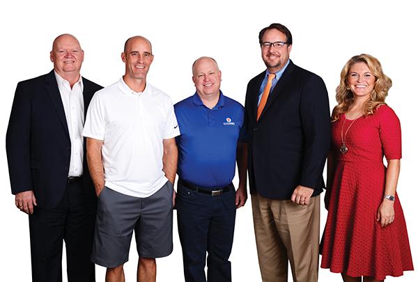 From left: Rushford Lee, REDKOR Brands; Eric Child, FiberFix and Spark Innovation; Jerry Hancock, Sub Zero Ice Cream; Randall Bateman, Snow Christensen & Martineau; Jeanette Bennett, BusinessQ Magazine. (Photos by Dave Blackhurst/Utah Valley BusinessQ)