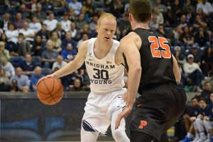 BYU freshman TJ Haws scored 20 points in the season-opener against Princeton. (Photo by Rebecca Lane)