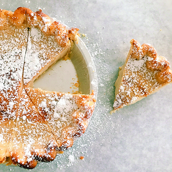 June Pie announces its menu each week on social media. Pictured here is the sugar cream pie.