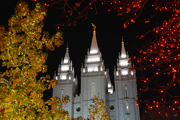 One 12 Days of Christmas variation is to visit 12 Christmas attractions. One Christmas attraction in Utah is the Lights on Temple Square in Salt Lake. (Photo by Rebecca Lane/UV360)