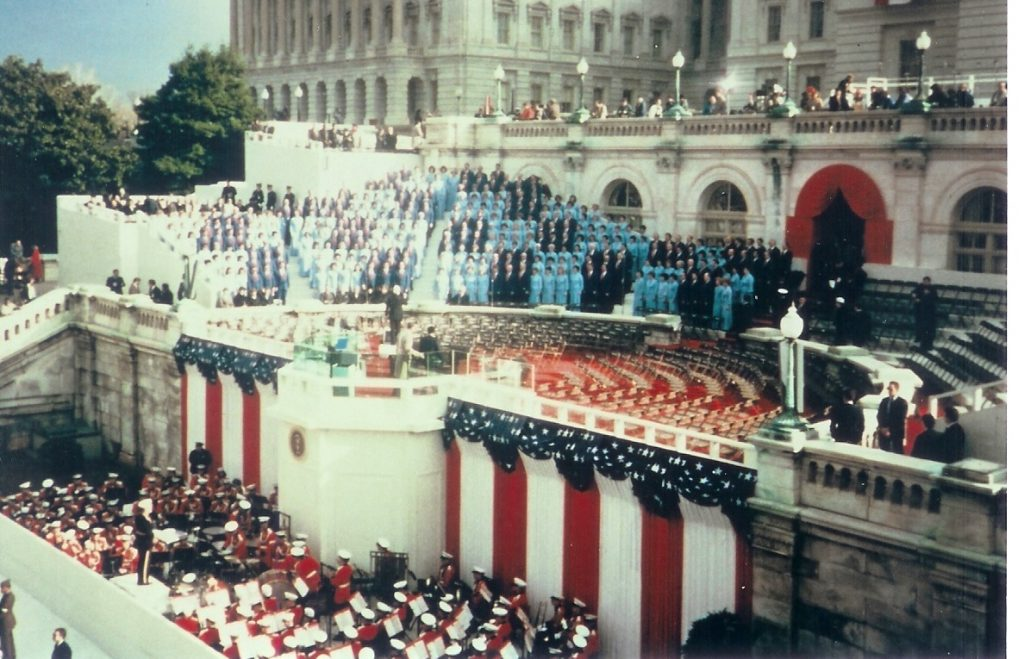 The Mormon Tabernacle Choir has sung at five previous presidential inaugurations including at President George Herbert Walker Bush's inauguration in 1989. (Photo courtesy LDS Church)