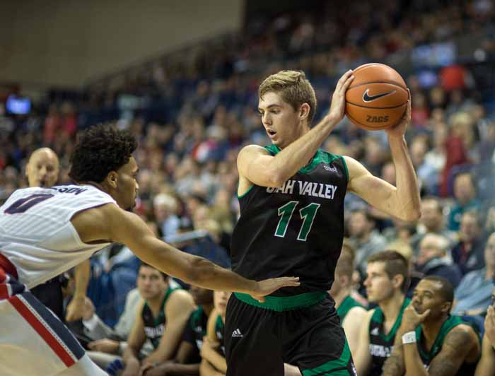 UVU's Conner Toolson is scoring 14.9 points per game for the Wolverines. (Photo from UVU Marketing)