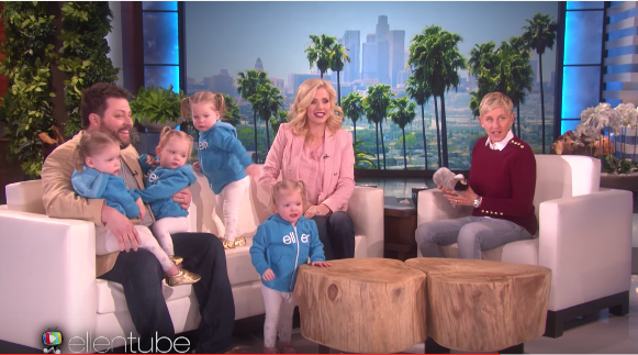 Utah Tube Gardner Quad Squad Storms Ellen Degeneres 39 Show With Cuteness Utahvalley360