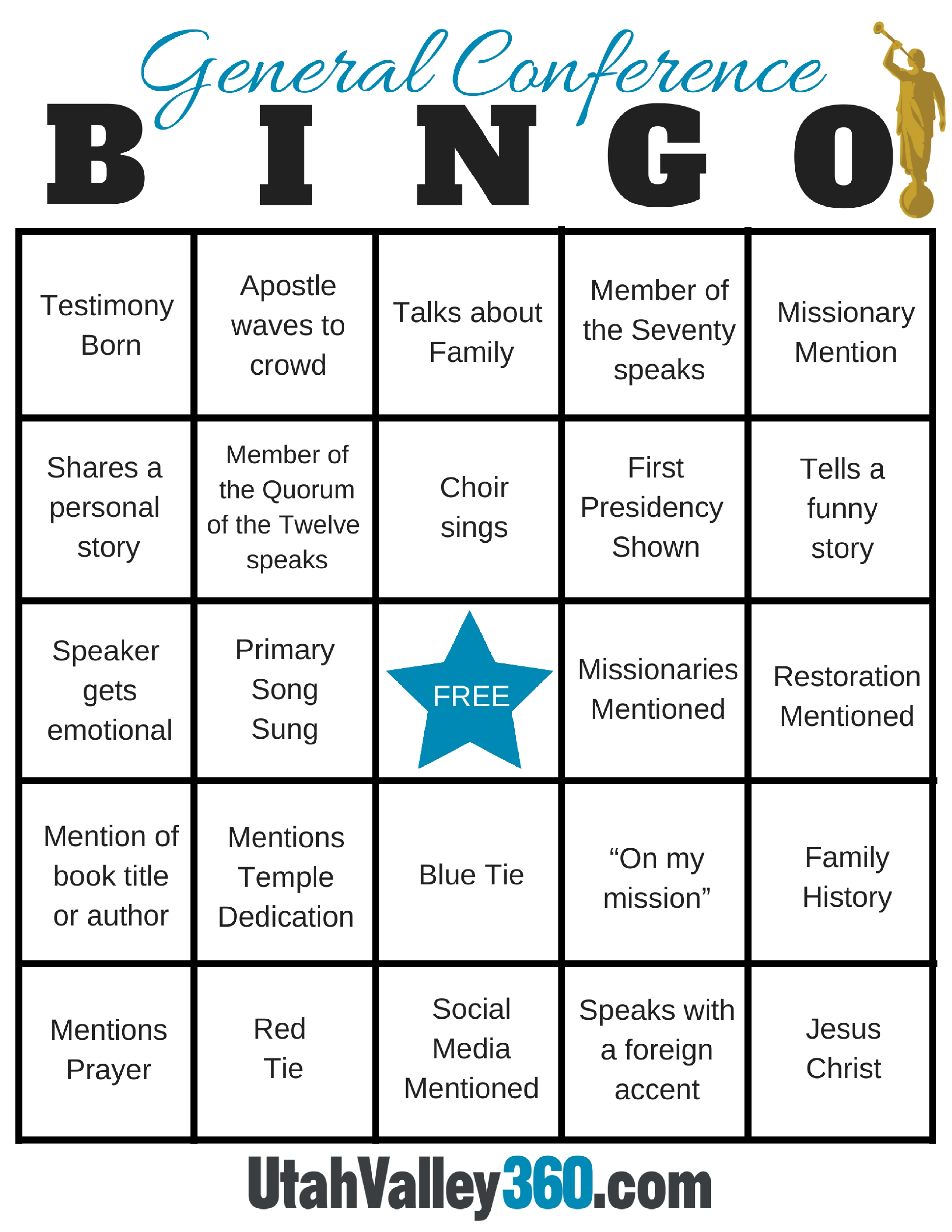 2017 Lds General Conference Bingo Cards Utahvalley360