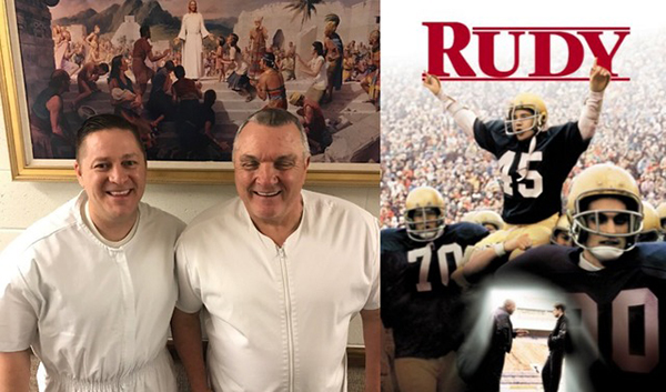 Rudy Visits Byu Football Staff Shares Lds Conversion Story