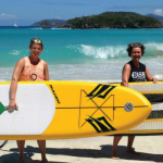 Have paddleboards, will travel: Cali Dansie and Molly Garfield