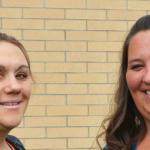 A one-on-one team effort: Julie Ellison and Mindy Davis