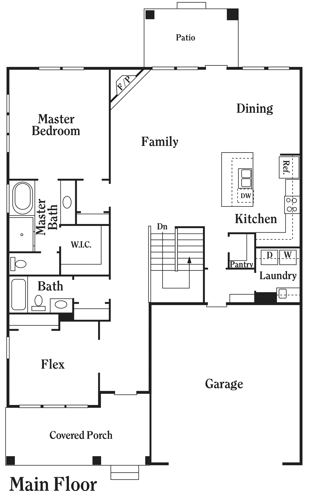 click on floor plan for larger image - Townehome Holmes Homes Utah Floor Plans