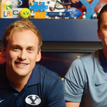 Good Sports: Hosts Spencer Linton and Jarom Jordan are always reppin' on BYU SportsNation